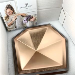 NEW! Kendra Scott Home Faceted Ring Dish Rose Gold